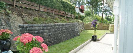 Bærum Hage- og Anleggsservice om å anlegge en hage.