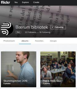 Også Bærum bibliotek legger bilder ut på flickr