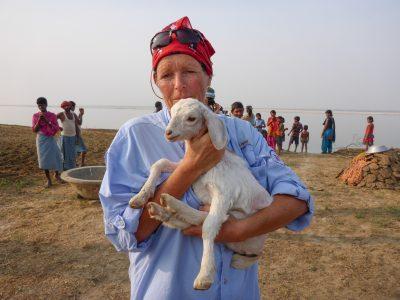 Liv Arnesen, her ved elven Ganges