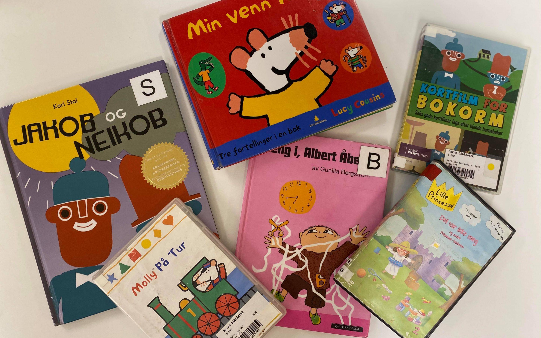 Diverse barnebøker og barnefilmer
