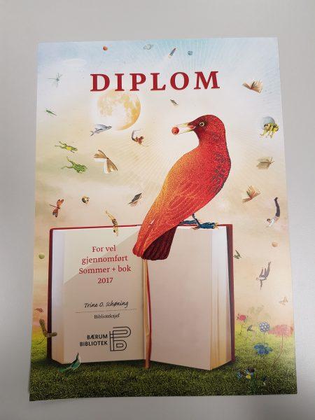 Diplom fra lesekonkurransen