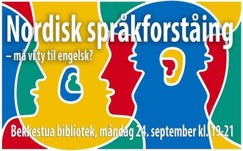 Nordisk språkforståing - må vi ty til engelsk? Vi feirar den europeiske språkdagen! @ Bærum bibliotek, Bekkestua | Akershus | Norge