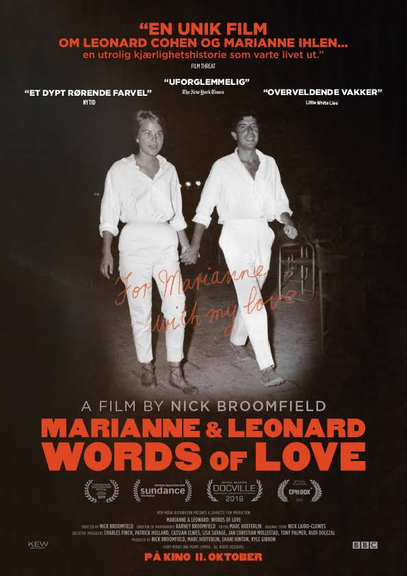Musikk-DVD: «Marianne & Leonard: Words Of Love»