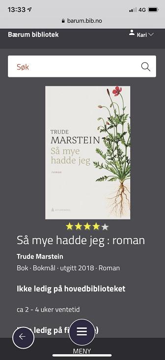 """Søkeresultat - enkeltbok (""""Vis mer"""")"""
