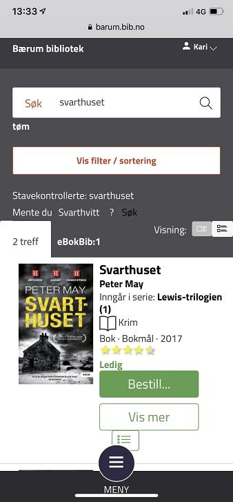 Søk etter en bok