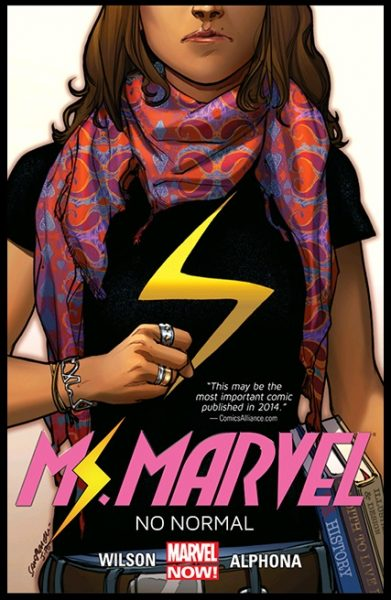 Forsidebilde til bind 1 i Ms. Marvel av G. Willow Wilson