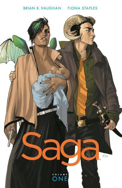 Forsidebilde til bind 1 i Saga av Brian K. Vaughan